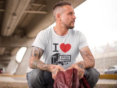 camiseta i love video games